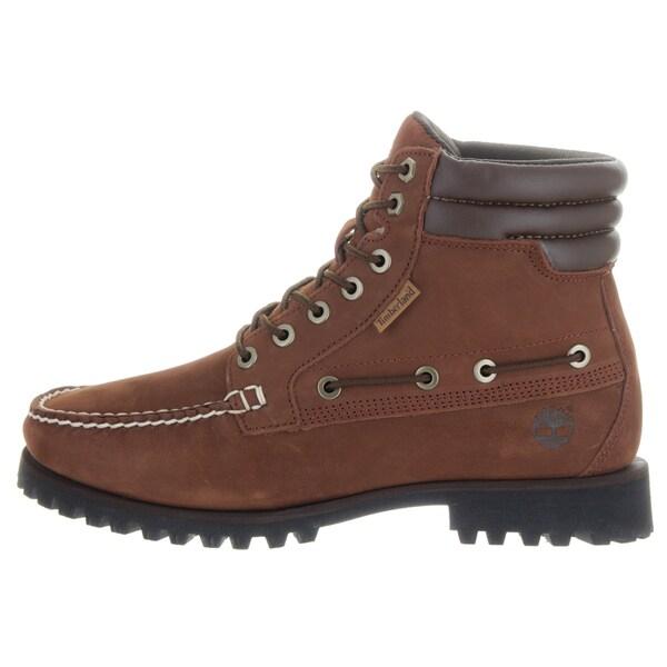 Shop Timberland Men's 7 eye Moc Toe Brown Nubuck Boots