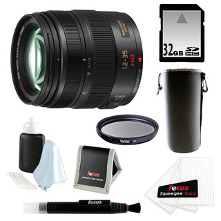 Panasonic H-HS12035 LUMIX G X VARIO 12-35mm/F2.8 ASPH X Series Lens with 32GB Accessory Bundle