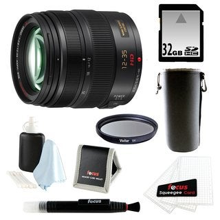 Panasonic H-HS12035 LUMIX G X VARIO 12-35mm/F2.8 ASPH X Series Lens with 32GB Accessory Bundle