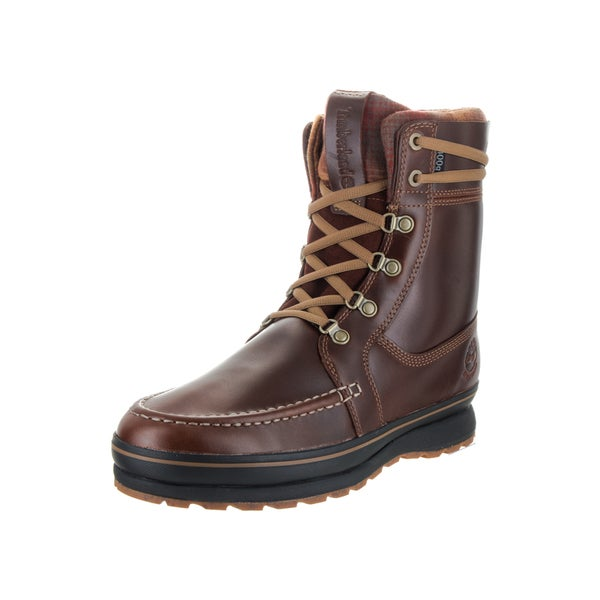 2e15dcf121e Timberland Men's Schazzberg Brown Full-grain Leather and Pendleton Wool  High Ankle Boots