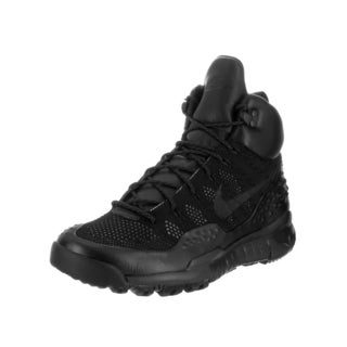 Nike Men's 'Lupinek Flyknit' Black Leather Boots