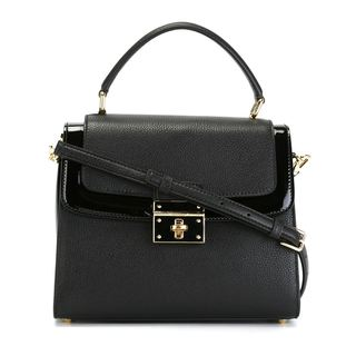 Dolce & Gabbana Greta Black Leather Tote Handbag