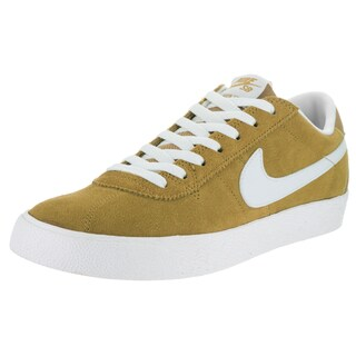 Nike Men's Bruin SB Premium SE Yellow Suede Skate Shoes