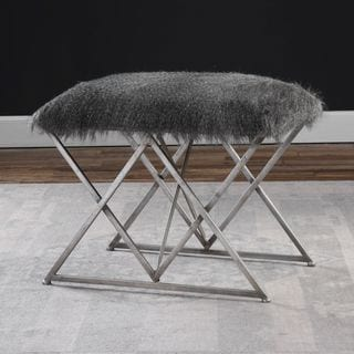 Uttermost Astairess Fur Bench