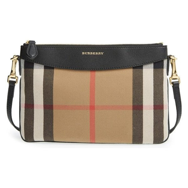 6e0e35f288f9 Shop Burberry Peyton Wone Beige Check Crossbody Bag - Free Shipping ...