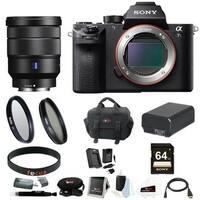 Sony Alpha a6000 24.3 Megapixel Mirrorless Interchangeable Lens Digital Camera with 2-Lens (Black) Bundle