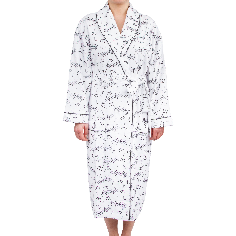 Leisureland Women's Cotton Flannel Novelty Long Robe Musi...