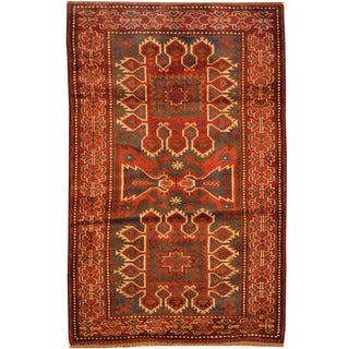 Herat Oriental Afghan Hand-knotted Tribal Balouchi Wool Rug (2'10 x 4'6)