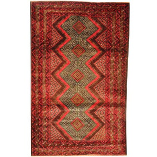 Herat Oriental Afghan Hand-knotted Tribal Balouchi Wool Rug (3'1 x 4'10)