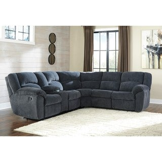Signature Design by Ashley Timpson Indigo Left-Arm Facing Reclining Loveseat with Console