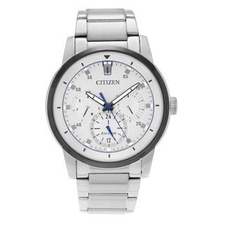Citizen Men's 'Eco-Drive' BU2018-55A Stainless Steel Link Bracelet Watch