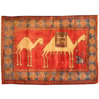 Herat Oriental Afghan Hand-knotted Tribal Balouchi Wool Rug (3'2 x 4'6)