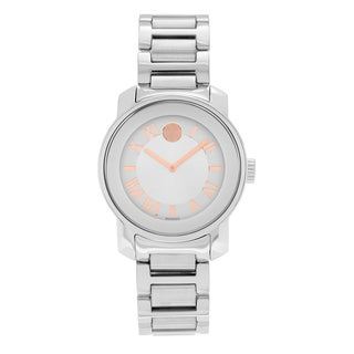 Movado Women's 'Bold' 3600196 Stainless Steel Roman Numeral Bracelet Watch