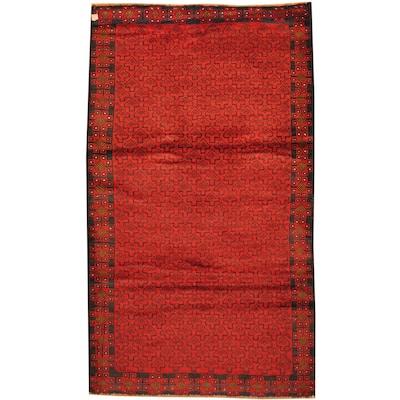 Handmade One-of-a-Kind Balouchi Wool Rug (Afghanistan) - 2'10 x 4'9