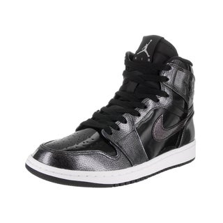 Nike Jordan Men's Air Jordan 1 Black Patent Leather Retro High Basketball Shoe