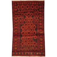 Handmade Herat Oriental Afghan Tribal Balouchi Wool Rug - 2'7 x 4'6 (Afghanistan)