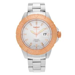 Invicta Men's 'Pro Diver' 14049 18k Rose Gold Ion-plated Bracelet Watch