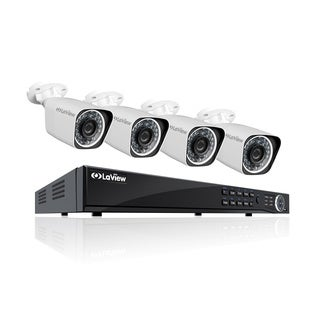 LaView Wi-Fi 1080p 8-channel 2TB HDD IP Indoor/ Outdoor Security Surveillance System with (4) 1080p Wi-Fi Bullet Cameras