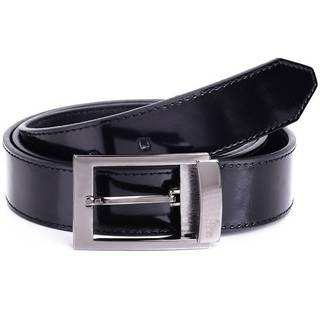 Versace Collection Men's Black Shiny Leather Belt