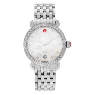 Michele Women's 'CSX-36' MWW03R000001 Stainless Steel 5/8 CT TDW Diamond Link Watch https://ak1.ostkcdn.com/images/products/13620831/P20291783.jpg?impolicy=medium
