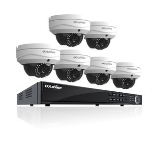 LaView 1080p/8-Channel/IP/Wi-Fi Security 2TB NVR System w/ 6 Dome Cameras