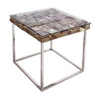 Modern Life Manchester Brown Stainless Steel End Table
