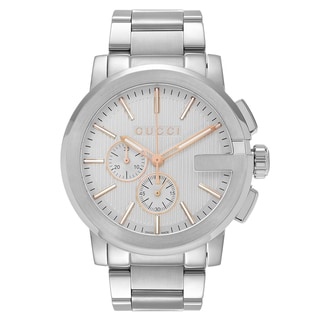 Gucci Men's 'G-Chrono' YA101201 Silver Dial Stainless Steel Bracelet Watch
