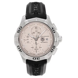 Tag Heuer Men's 'Aquaracer CAP2111.FT6028 Chronograph Rubber Strap Watch