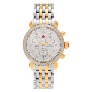 Michele Women's MWW03M000158 'CSX 36' Two-tone 5/8 CT TDW Diamond Bracelet Watch