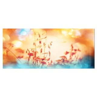 Designart 'Beautiful Little Summer Flowers View' Floral Metal Wall Art