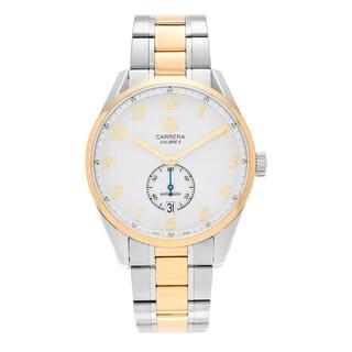 Tag Heuer Men's 'Carrera Heritage' WAS2150.BD0733 18k Gold Steel Bracelet Watch
