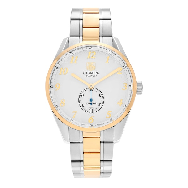 546e0dfdca7 Shop Tag Heuer Men s  Carrera Heritage  WAS2150.BD0733 18k Gold ...
