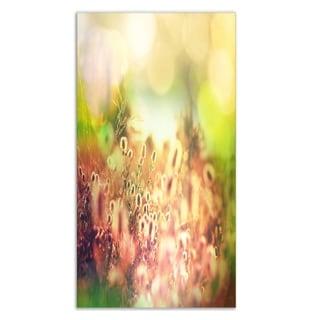 Designart 'Cute Summer Flowers on Meadow' Floral Aluminium Art Print