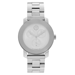 Movado Women's Slightly Blemished 3600075 'Bold' Stainless Steel Chronograph Link Watch