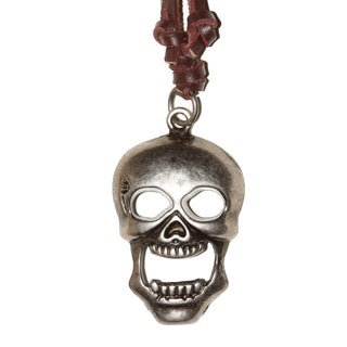 Handmade SKULL Brown Leather Necklace (Thailand)