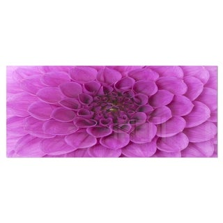 Designart 'Large Purple Flower and Petals' Contemporary Flower Metal Wall Art