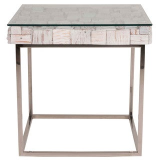Modern Life White Wash Ramona End Table