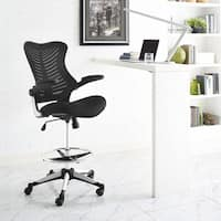 Modway Charge Black Drafting Chair