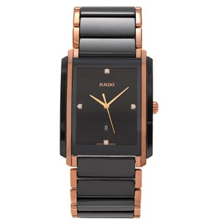 RADO Men's R20207712 'Integral' Ceramic Diamond Accent Link Watch