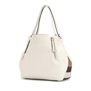 Burberry Maidstone White Leather Handbag
