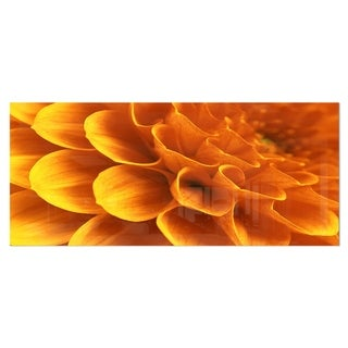 Designart 'Yellow Abstract Floral Design' Contemporary Floral Metal Wall Art