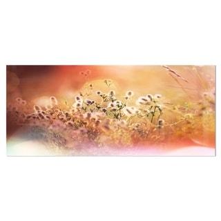 Designart 'Wild Flowers on Light Background' Floral Metal Wall Art