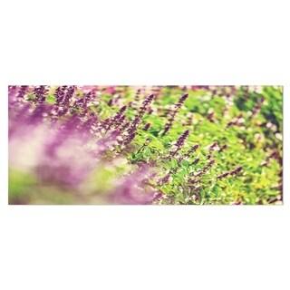 Designart 'Beautiful Mint Flowers in Garden' Contemporary Flower Metal Wall Art