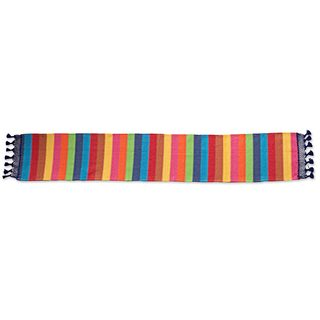 Cotton Table Runner, 'Shimmering Rainbow' (Mexico)