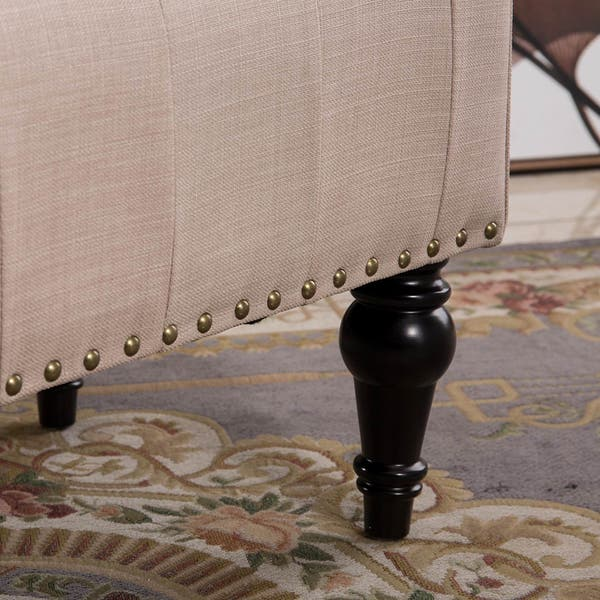 Groovy Shop Remeed Taupe Tufted Fabric Rectangle Ottoman On Sale Alphanode Cool Chair Designs And Ideas Alphanodeonline
