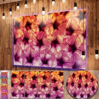 Designart 'Close-Up Purple Flower Design' Extra Large Floral Metal Wall Art