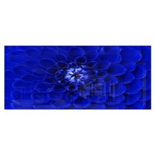 Designart 'Abstract Blue Flower Design' Extra Large Floral Metal Wall Art