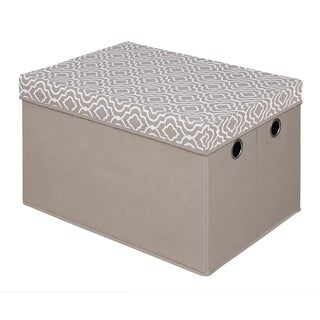 Storage Trunk With Removable Lid - Taupe