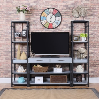Modern 3-Piece Gaming Entertainment Center TV Stand in Grey