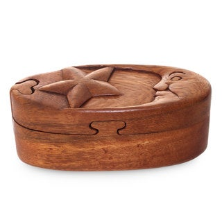 Handmade Wood Puzzle Box, 'Sweet Night' (Indonesia)